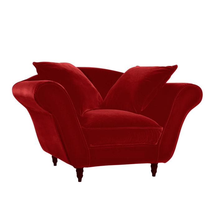 fauteuil glamour rouge profond anniversaire 40 ans. Black Bedroom Furniture Sets. Home Design Ideas