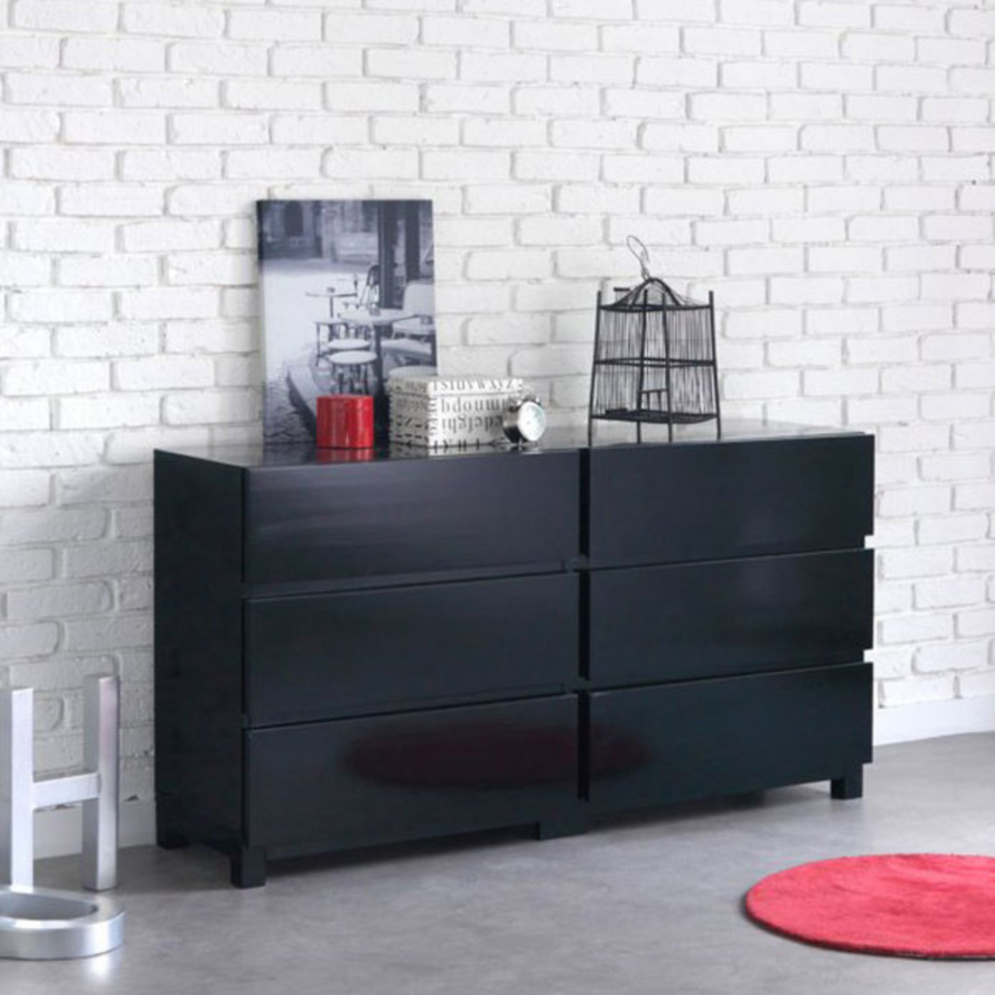commode noir. Black Bedroom Furniture Sets. Home Design Ideas