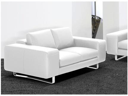 canap 2 places cuir sup rieur italien alessandro ii blanc acheter ce produit au meilleur prix. Black Bedroom Furniture Sets. Home Design Ideas