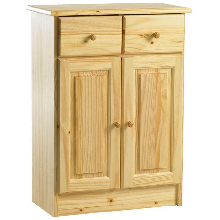 meuble bas 2 portes 2 tiroirs baltimore 2 naturel frais de traitement de commande offerts. Black Bedroom Furniture Sets. Home Design Ideas