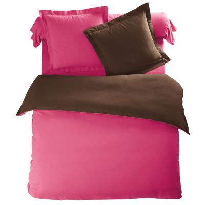 housse de couette bicolore chocolat bois de rose flanelle tertio acheter ce produit au. Black Bedroom Furniture Sets. Home Design Ideas