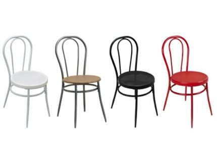 Lot de 2 chaises bistrot blanc acheter ce produit au - Chaise de bistrot blanche ...