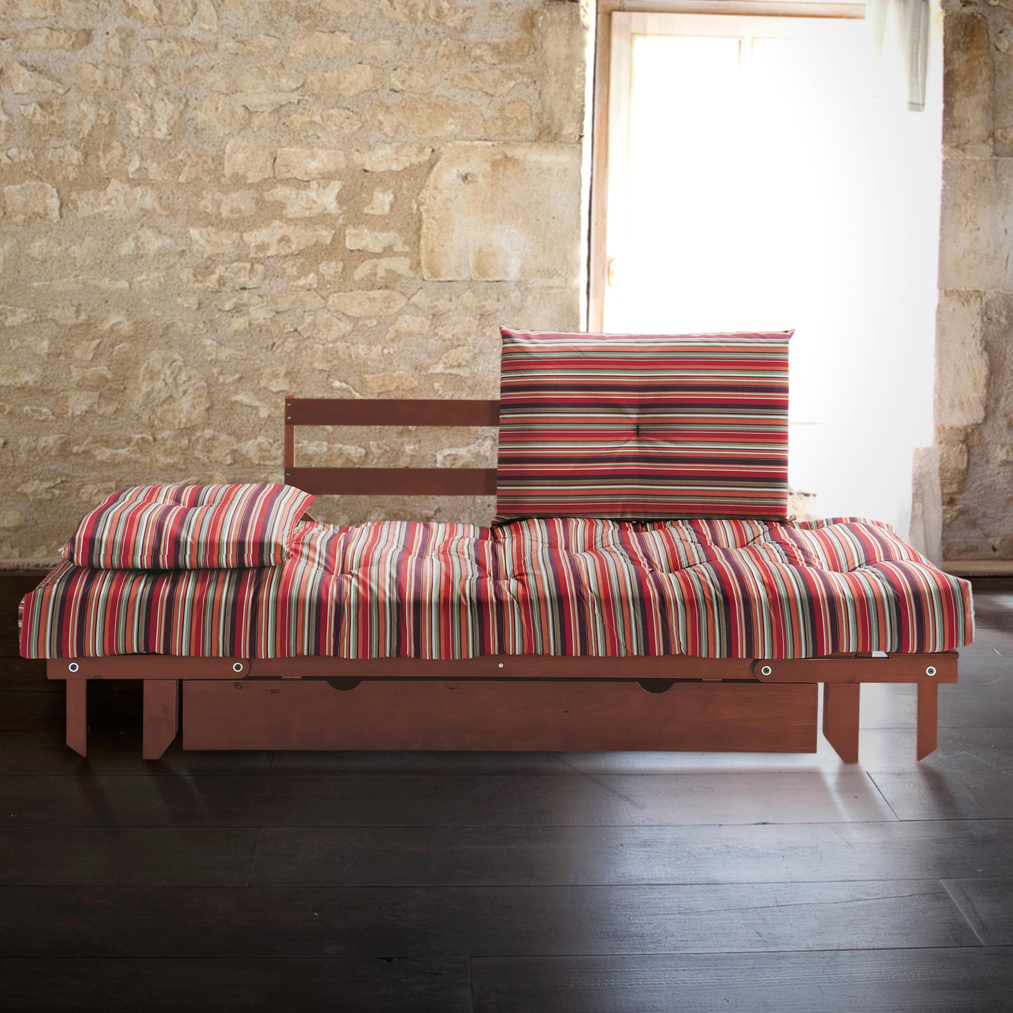 matelas futon 2 coussins pour structure milo ray. Black Bedroom Furniture Sets. Home Design Ideas