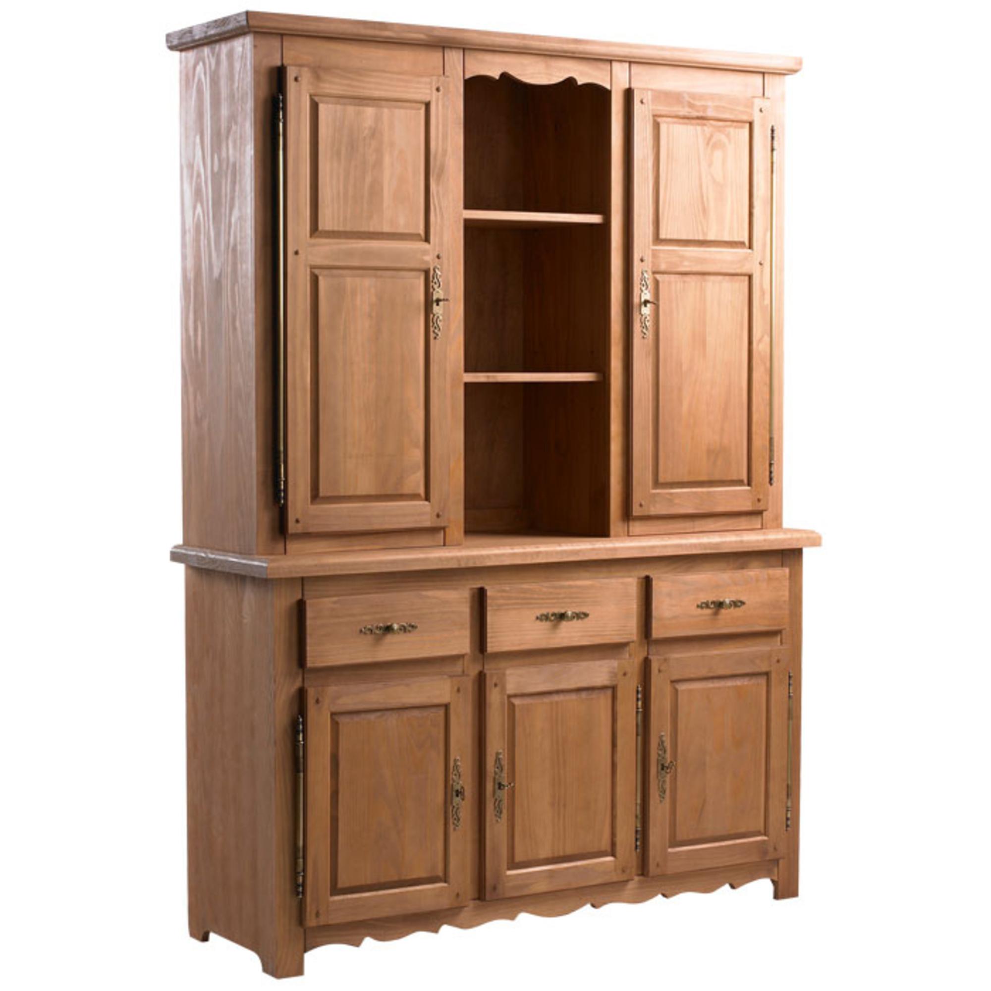 buffet vaisselier 3 portes sologne ch ne dor. Black Bedroom Furniture Sets. Home Design Ideas