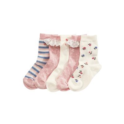 Lot de cinq paires de jolies chaussettes