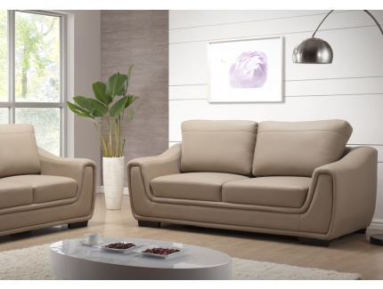 Canapé Places Simili Cuir Pampelune Taupe Acheter Ce Produit - Canapé 3 places simili cuir