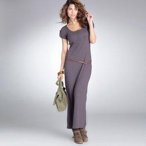 robe longue manches courtes maille jersey coton polyester acheter ce produit au meilleur prix. Black Bedroom Furniture Sets. Home Design Ideas