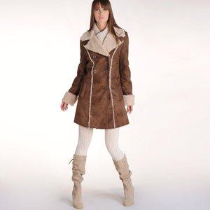 manteau effet peau de mouton retourn acheter ce produit. Black Bedroom Furniture Sets. Home Design Ideas