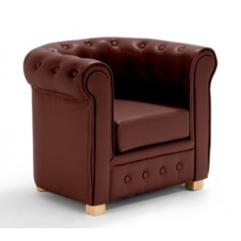 fauteuil enfant chesterfield chocolat acheter ce produit. Black Bedroom Furniture Sets. Home Design Ideas