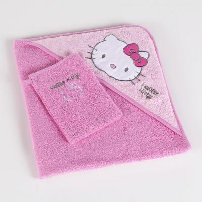 parure de bain b b en ponge hello kitty acheter ce produit au meilleur prix. Black Bedroom Furniture Sets. Home Design Ideas