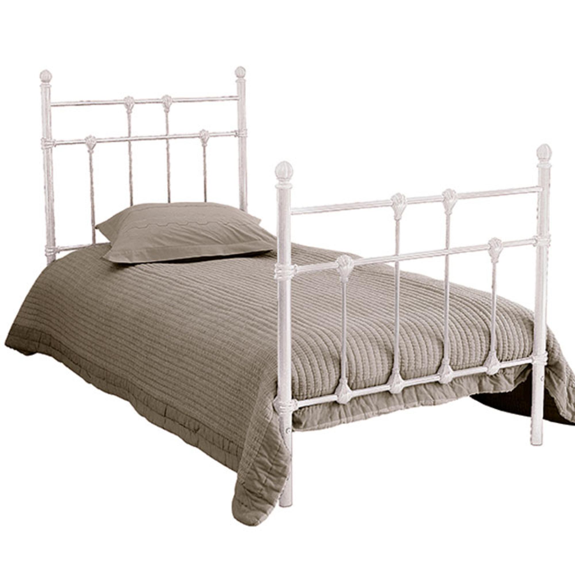 lit m tal 90 x 190 cm myl ne blanc frais de traitement de commande offerts acheter ce. Black Bedroom Furniture Sets. Home Design Ideas