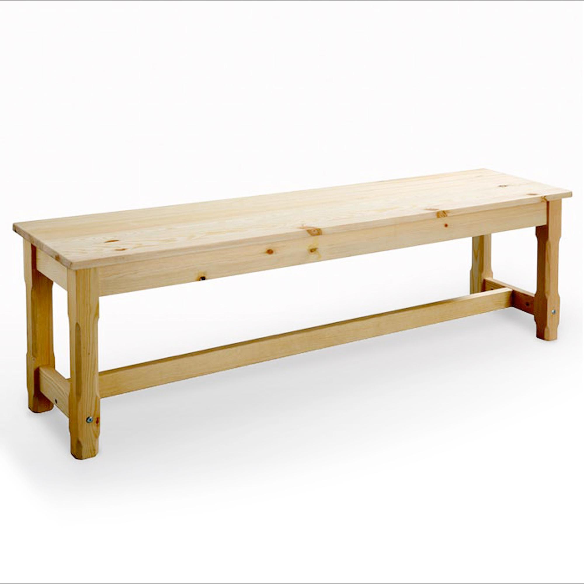 banc de ferme 180 cm brume brut frais de traitement de commande offerts acheter ce produit. Black Bedroom Furniture Sets. Home Design Ideas