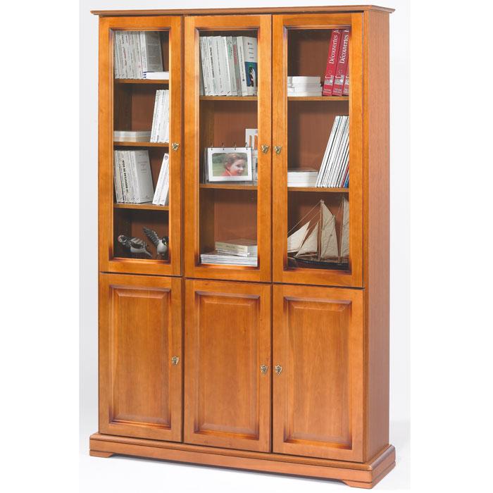 biblioth que style louis philippe 3 portes pleines 3 portes vitr es alsace anniversaire 40 ans. Black Bedroom Furniture Sets. Home Design Ideas