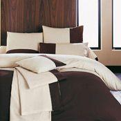 housse de couette charly couleur chocolat beige taille 240x220cm acheter ce produit au. Black Bedroom Furniture Sets. Home Design Ideas