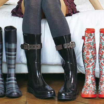 bottes caoutchouc bride clout e femme du 36 au 41. Black Bedroom Furniture Sets. Home Design Ideas