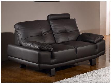 canap 3 places cro te de cuir baggio ii chocolat acheter ce produit au meilleur prix. Black Bedroom Furniture Sets. Home Design Ideas