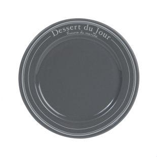 assiette dessert bistrot gris acheter ce produit au meilleur prix. Black Bedroom Furniture Sets. Home Design Ideas