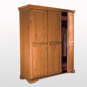 armoire penderie ling re pin massif louis philippe. Black Bedroom Furniture Sets. Home Design Ideas