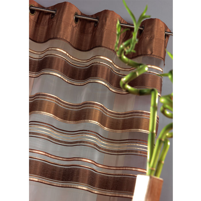Rideau organza rayure bayadere 140x240 chocolat - Acheter ce produit ...