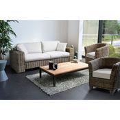 Canapé 3 places + 2 fauteuils Kubu Noumea - Couleur:Ecru