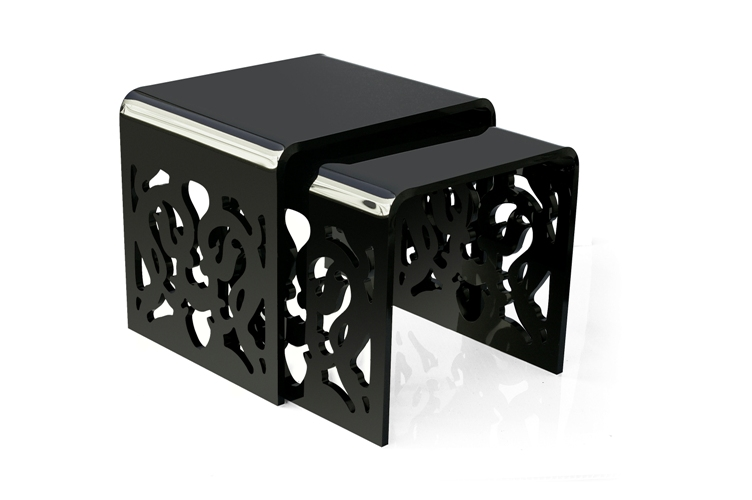 table gigogne grand soir noir acheter ce produit au. Black Bedroom Furniture Sets. Home Design Ideas