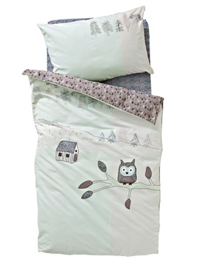 housse de couette bebe hou le hibou vertbaudet acheter. Black Bedroom Furniture Sets. Home Design Ideas