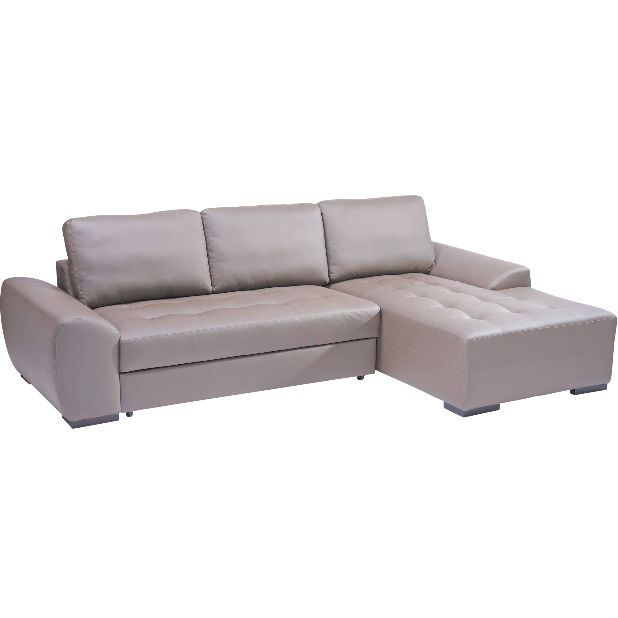 Canap d 39 angle droite convertible rubix taupe anniversaire 40 ans - Canape d angle convertible couleur taupe ...