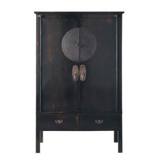 armoire noire shanghai acheter ce produit au meilleur. Black Bedroom Furniture Sets. Home Design Ideas