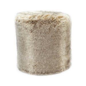 pouf fausse fourrure acheter ce produit au meilleur prix. Black Bedroom Furniture Sets. Home Design Ideas