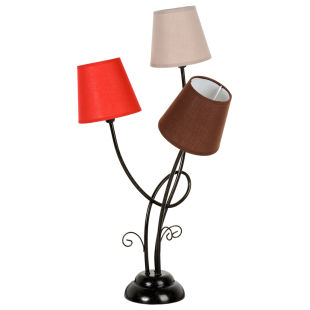 lampe triple brocante