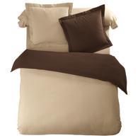 housse de couette bicolore chocolat lin en flanelle tertio acheter ce produit au meilleur prix. Black Bedroom Furniture Sets. Home Design Ideas