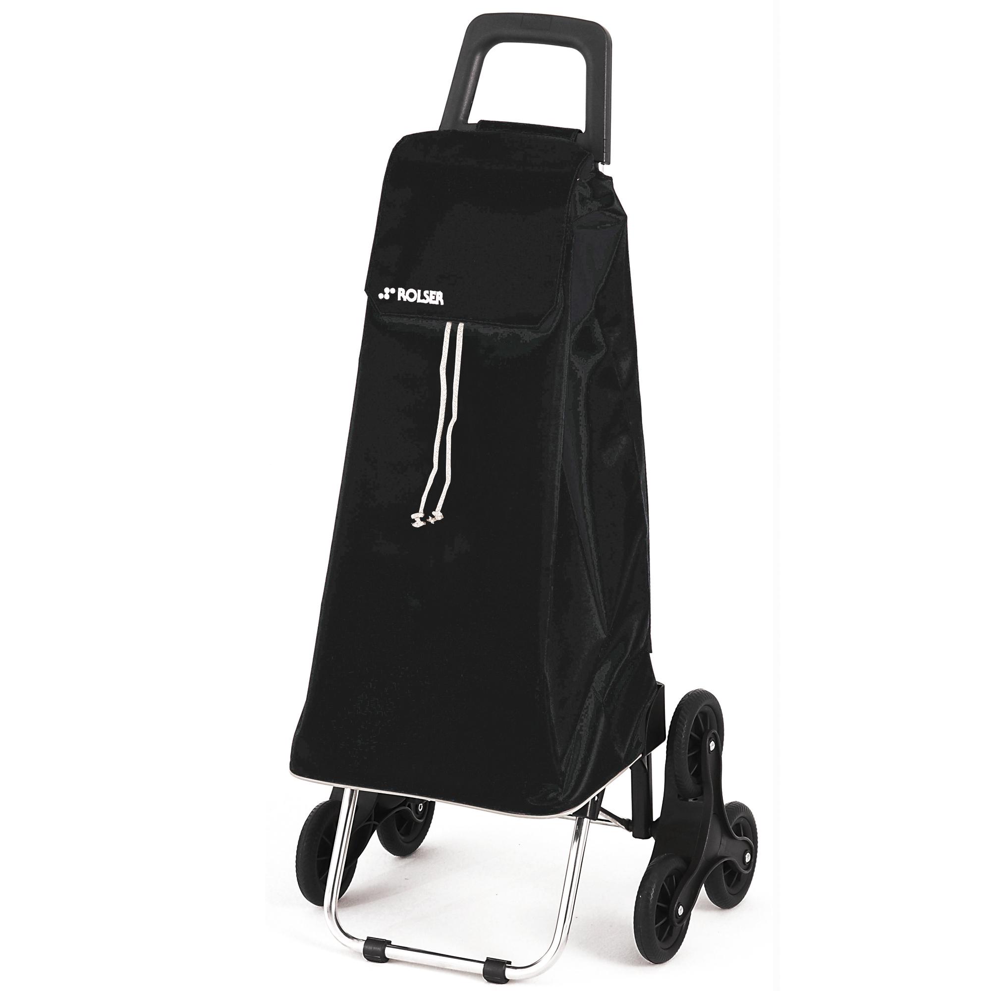 chariot de course 6 roues 59 l saquet rolser noir frais de traitement de commande offerts. Black Bedroom Furniture Sets. Home Design Ideas