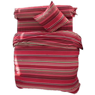 housse de couette ray e en pur coton rouge b ryl acheter ce produit au meilleur prix. Black Bedroom Furniture Sets. Home Design Ideas