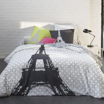 housse de couette imprim gris clair gris fonc en pur coton structure acheter ce produit au. Black Bedroom Furniture Sets. Home Design Ideas