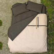housse de couette genuine beige kaki taille 240x220cm acheter ce produit au meilleur prix. Black Bedroom Furniture Sets. Home Design Ideas
