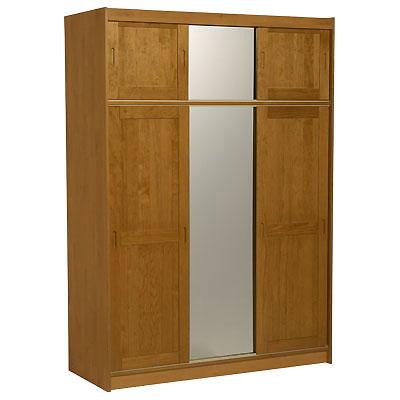 armoire 3 portes surmeuble miroirs kensington miel. Black Bedroom Furniture Sets. Home Design Ideas