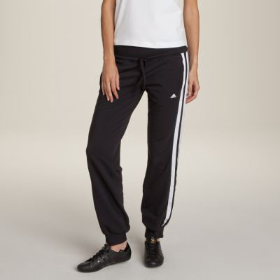 En Femme Du Bandes Au Adidas Pantalon Larges Molleton Essentials 36 RqXw0IF