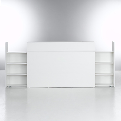 t te de lit avec 2 tag res de rangement amovibles. Black Bedroom Furniture Sets. Home Design Ideas