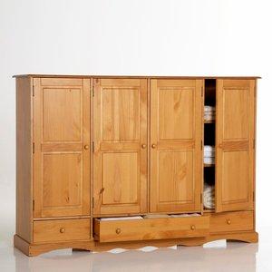 armoire pin massif h140 cm penderie et ling re acheter ce produit au meilleur prix. Black Bedroom Furniture Sets. Home Design Ideas