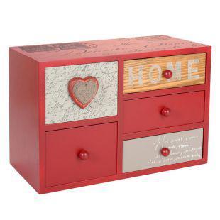 bo te 5 tiroirs home bois acheter ce produit au meilleur prix. Black Bedroom Furniture Sets. Home Design Ideas