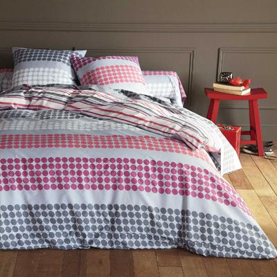housse de couette imprim e en pur coton michalis coloris rouge acheter ce produit au meilleur. Black Bedroom Furniture Sets. Home Design Ideas