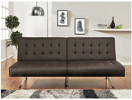 banquette clic clac malambo simili cuir chocolat. Black Bedroom Furniture Sets. Home Design Ideas