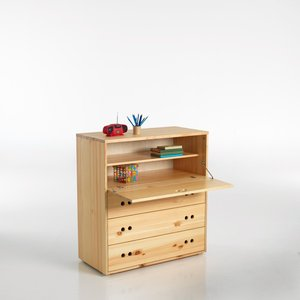 commode bureau en pin massif janis acheter ce produit au meilleur prix. Black Bedroom Furniture Sets. Home Design Ideas