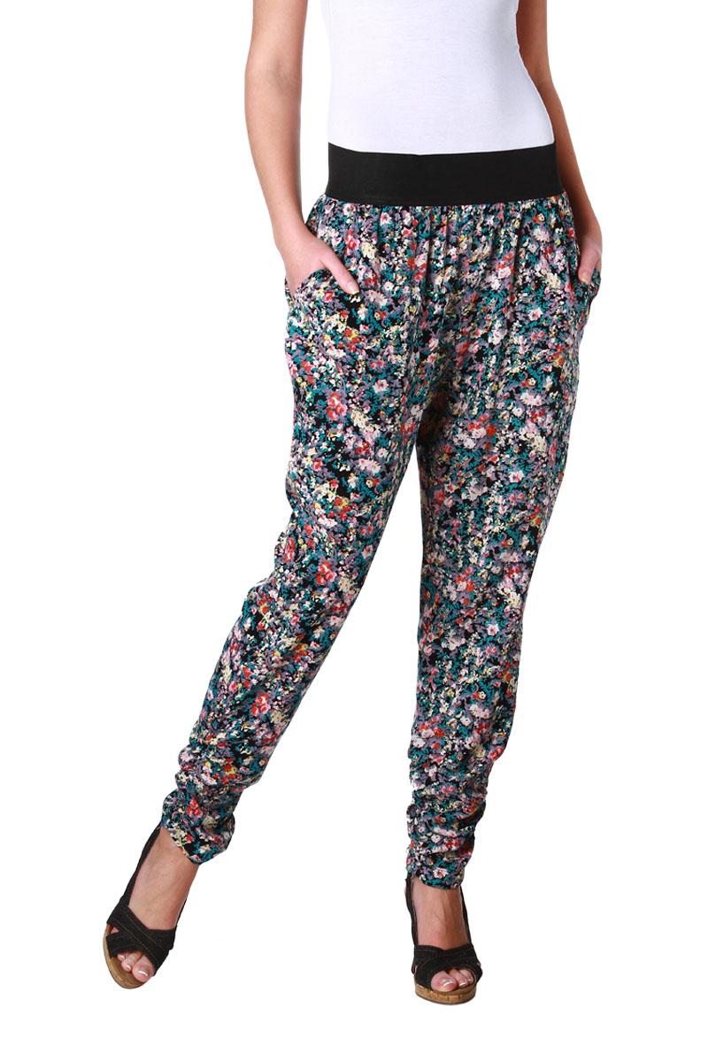 Pantalon Imprime Fleurs Taille Elastiquee Femme Acheter Ce Produit