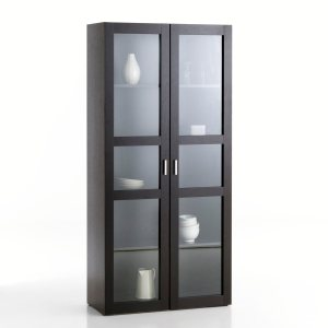 biblioth que vitrine basse 2 portes vitr es vence ch ne pictures to pin on pinterest. Black Bedroom Furniture Sets. Home Design Ideas