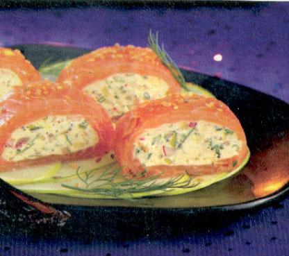 médaillon de saumon fumé aux herbes fraîches