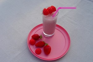 Milk-shake aux fraises et tagada