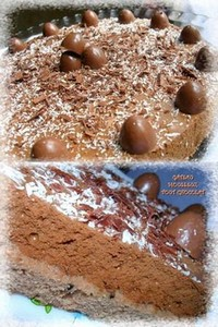 Gâteau mousseux tout chocolat