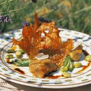 Fleurs de courgette farcies et fleurs frites