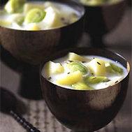 Soupe de poireaux & pomme de terre au cumin